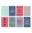 set of love cards posters banners Hand vector image vector image