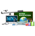 set of technology object stem education vector image vector image