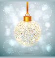 shining sparkled christmas ball vector image vector image
