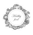 sketch hand drawn vegetable nutrition vector image