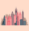 skyscrapers flat design city panorama vector image