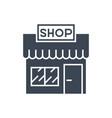 store glyph icon vector image