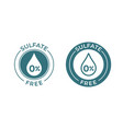 sulfate free icon sodium and sulfate free product vector image vector image