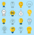 sweet business idea light bulb concept creative vector image vector image