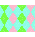 Sweet colors argyle seamless pattern vector image vector image