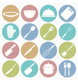 white icons kitchen vector image