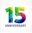15 anniversary color logo vector image vector image
