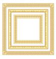 3 golden frames vector image vector image
