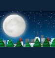 a winter night scene vector image vector image