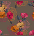 abstract floral seamless pattern branch vector image