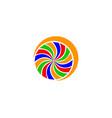 abstract spiral logo design vector image