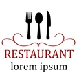art restaurant icon for menu vector image