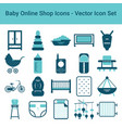 baby online shop icons on a white background vector image vector image