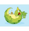 birthday of a dragon vector image vector image