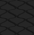 Black 3d wavy vertical grid vector image vector image