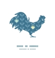blloming vines stripes rooster silhouette vector image vector image