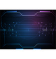 blue futuristic circuit game data technology vector image vector image