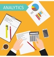 Business analytics top view vector image