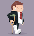 Businessman failure vector image vector image