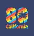 california 80 - concept vector image vector image
