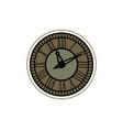 classic clock design vector image vector image