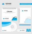 clouds logo calendar template cd cover diary and vector image vector image