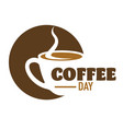 coffee drink cafe or cafeteria isolated icon vector image vector image