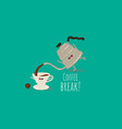 coffee drip kettle with a slim spout make good vector image vector image
