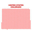 colorado state map - mosaic of heart hearts vector image vector image
