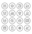 cooking related set round line icons vector image vector image