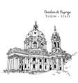 drawing sketch basilica superga turin