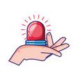 emergency alarm light icon vector image vector image