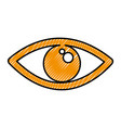 eye view symbol icon vector image