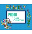Family weddng album cover vector image vector image