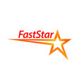 fast star shape logo concept design template idea vector image