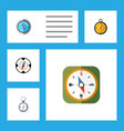 flat icon compass set of instrument geography vector image vector image