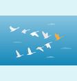 flock of birds leadership concept vector image