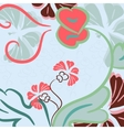 Floral background abstract vector image vector image