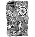 floral zentangle vector image