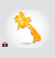 geometric polygonal style map of laos low poly vector image