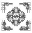 geometrical corners vector image vector image