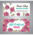 Gift certificate for flower shop floral voucher