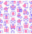 giveaway or gifts seamless pattern vector image