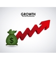 growth money vector image vector image
