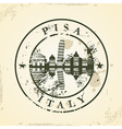 Grunge rubber stamp with Pisa Italy vector image vector image