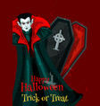 happy halloween trick treat greeting card vector image