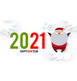 happy ner 2021 year christmas design template vector image vector image