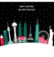 Happy New Year and Merry Christmas Travel vector image vector image