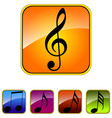 image set of music icons vector image