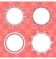 lacy frames on the red background vector image
